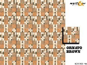 Ornato Brown Floor Tiles