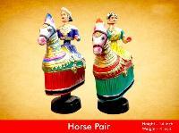 Tanjore Horse Pair