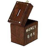 Handcrafted Wooden Money Box