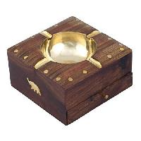 Wooden Ashtray with Drow
