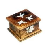 Wooden Box In Mango Wood