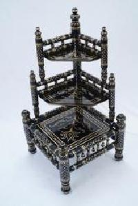 Wooden Sankheda Corner Table