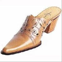 Brown Leather Shoe Fabric Engraving Services