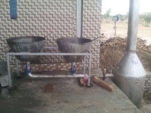 Wood Fire Mini Mawa Making Machine