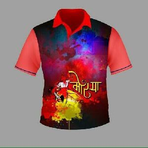 Mens Polo Neck Sublimation T-shirts