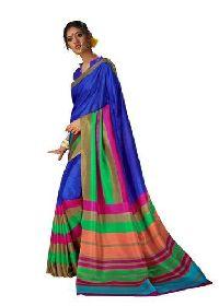 Blue Bhagalpuri Silk Sarees