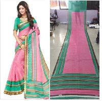 Pink Bhagalpuri Silk Saree