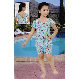 Girls Knee Length Swimming Suits