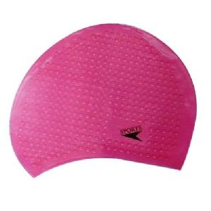 Pink Bubble Swimming Cap