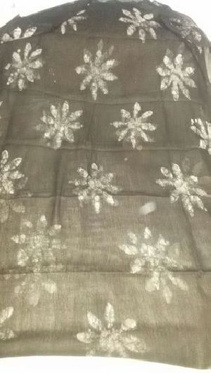 Dabu Print Cotton Silk Fabric