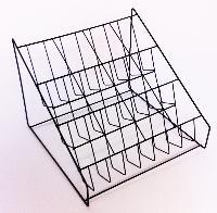 12-Slot Black Powder-Coated Wire Live Herb Rack
