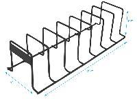 """Black Wire Shelf Organizer. 17 1/4""""h x 6""""w"""