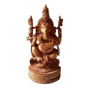 Decorative Wooden Ganesh Statue