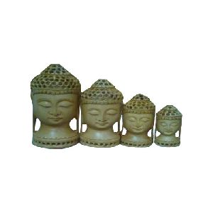 Sandalwood Buddha Head