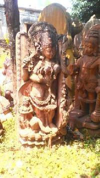 Saraswati Sandstone Statue
