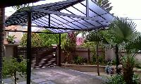 Roofing sheet installation and shade work