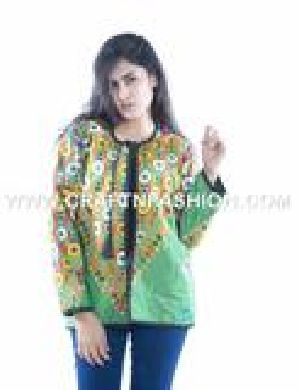 Designer Women Kuchi Embroidered Jacket