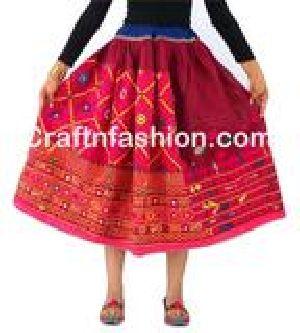 Ethnic Mirror Work banjara Rabari skirts