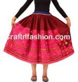 Vintage Kuchi Gypsy Hippie Style rabari skirt