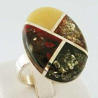 Baltic Amber Ring - 42