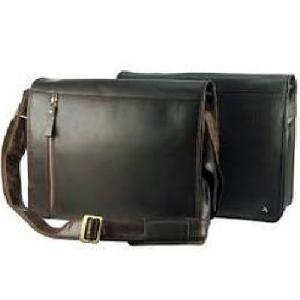 Dull Black Leather Executive Bag