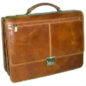 Light Brown Leather Executive Bag