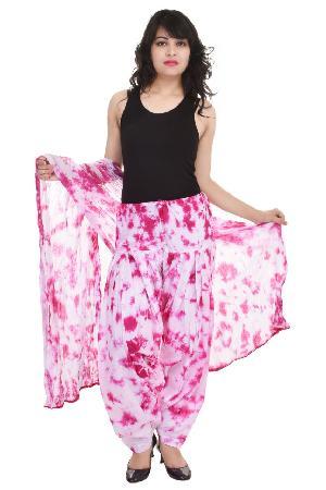 Cotton Tie Dyed Patiala Salwar