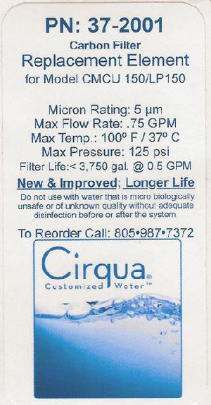 Cirqua Digitally Printed Paper Label