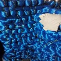 Blue Monofilament Yarn