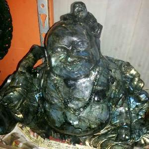 Gemstone Laughing Buddha Statue