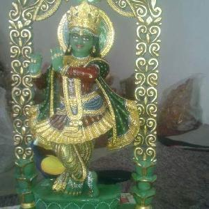 Gemstone Lord Krishna Statue