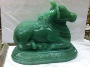 Gemstone Nandi Statue