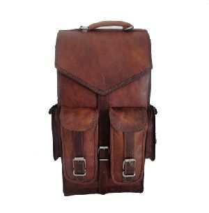 Ph041 Vintage Leather Backpack