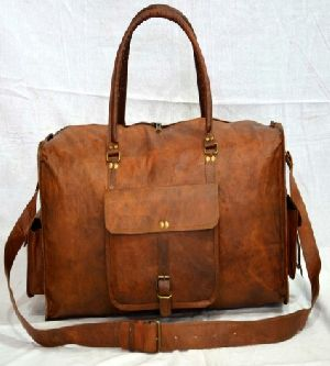 ace4e652a818 Ph060 Genuine Leather Duffle Bag