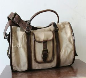 db88913e18d7 Ph088 Canvas Mix Leather Duffle Bag