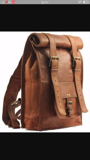 Vintage Leather Backpack Bags