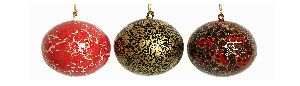 Enamel Hand Painted Christmas Ornaments