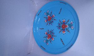 Enamel Hand Painted Round Tray