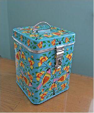 Enamel Hand Painted Storage Box