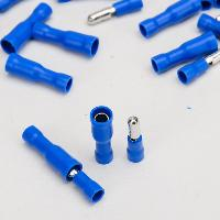 10pc Blue Male Female Insulated Crimp Wire Connector