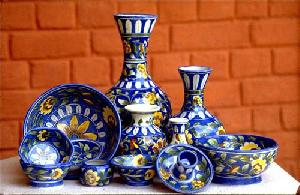 Painted Pottery Set