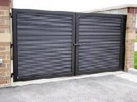 designer wooden gates