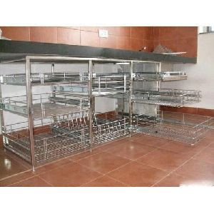 Steel kitchen trolley manufacturers suppliers exporters in india for Modular kitchen trolley designs