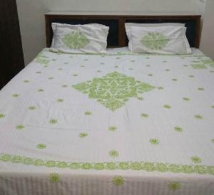 Chikan Embroidered Bedsheets