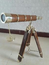 Brass Wooden Stand Telescope