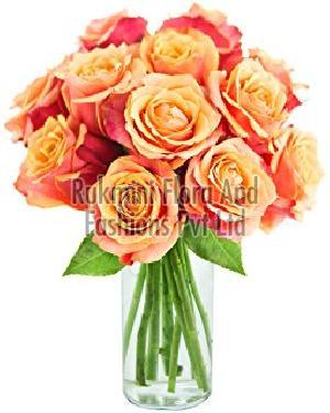 Fresh Orange Button Rose Flowers