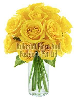 Fresh Yellow Cut Rose Flowers