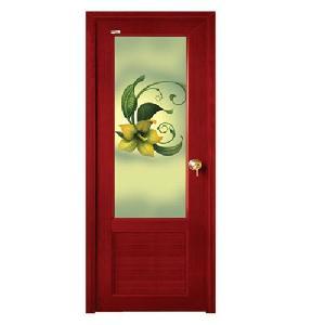 Decorative PVC Glass Door