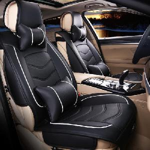 Leather Waterproof Black Car Seat Covers