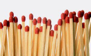 Cardboard kitchen matches